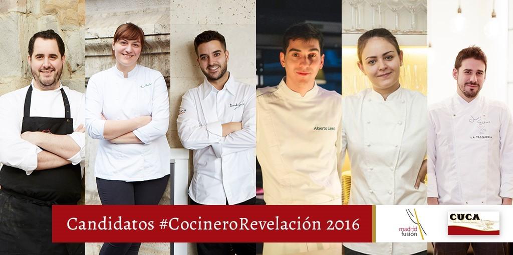Premio Cocinero Revelación Madrid Fusión 2016.