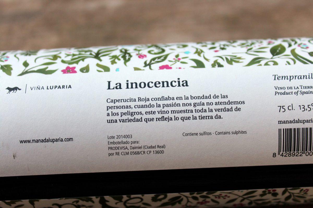 La Inocencia 2014 (Tempranillo):