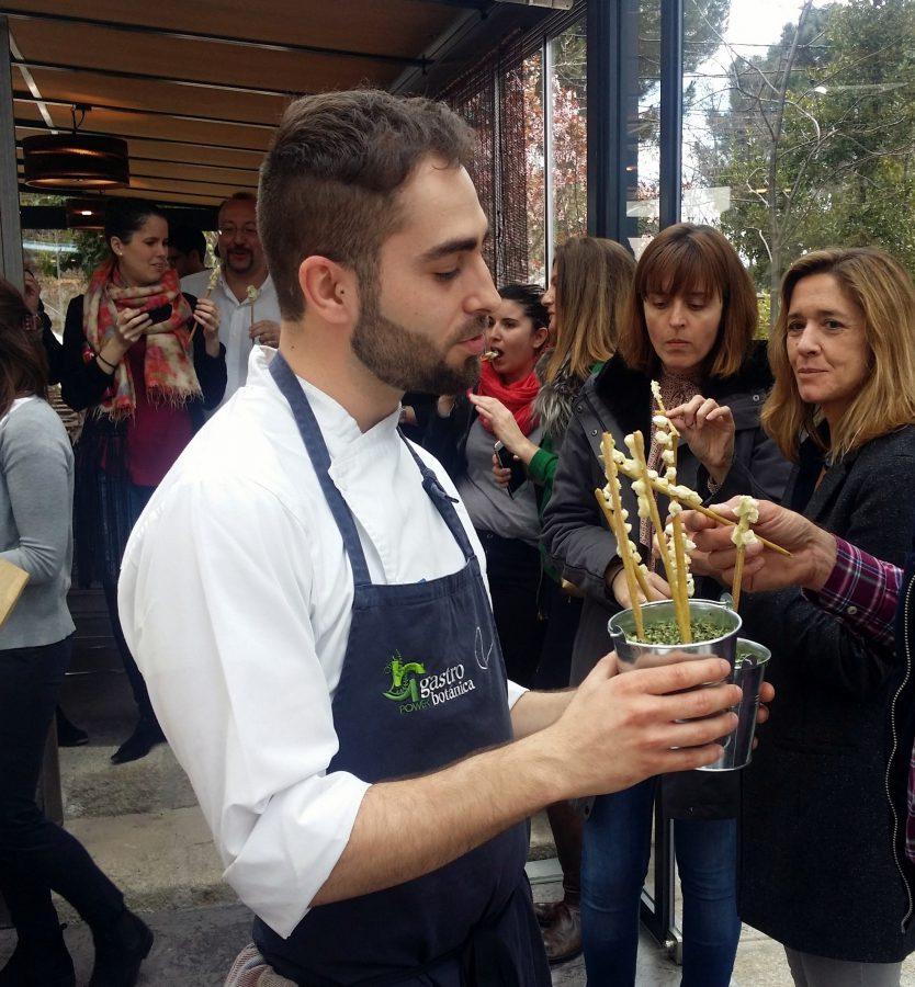 Grisines de trigo sarraceno, chocolate blanco y moringa - Rodrigo de la Calle - El Invernadero