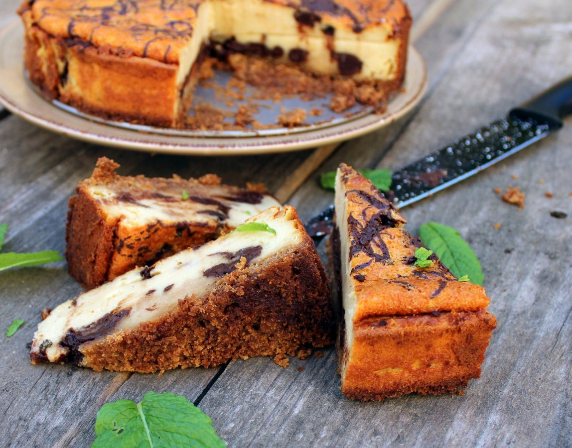 Tarta de queso y chocolate negro 1
