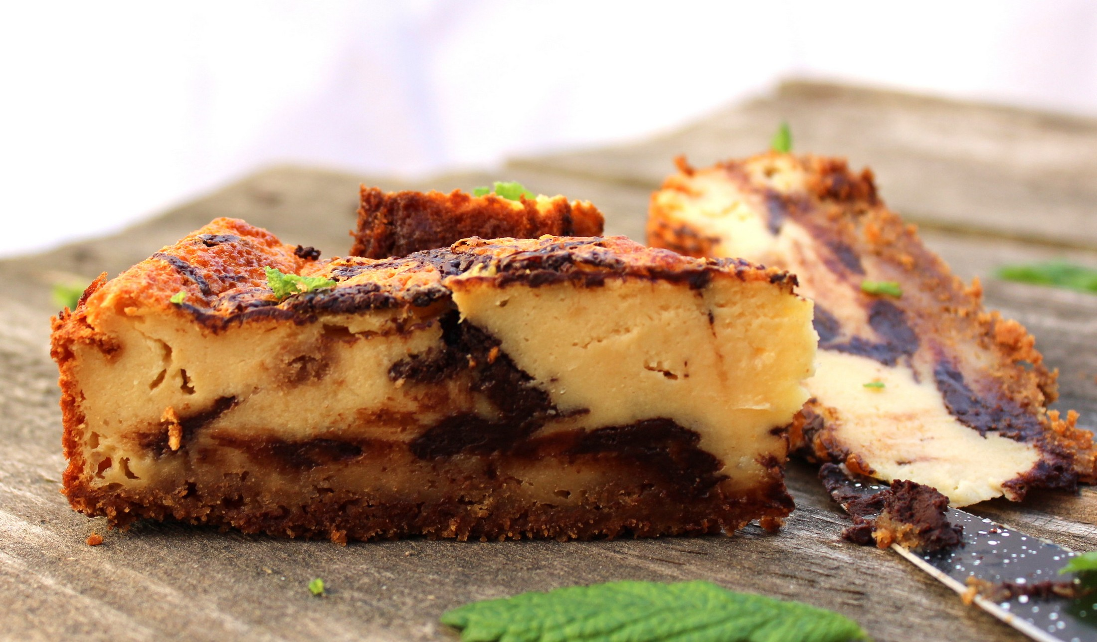 Tarta de queso y chocolate negro 5
