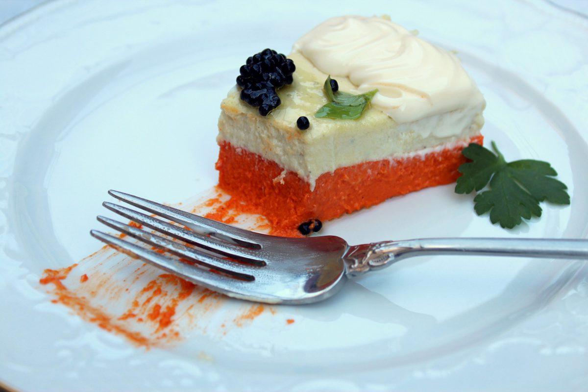 pastel frio de pimientos del piquillo y brandada de bacalao-6