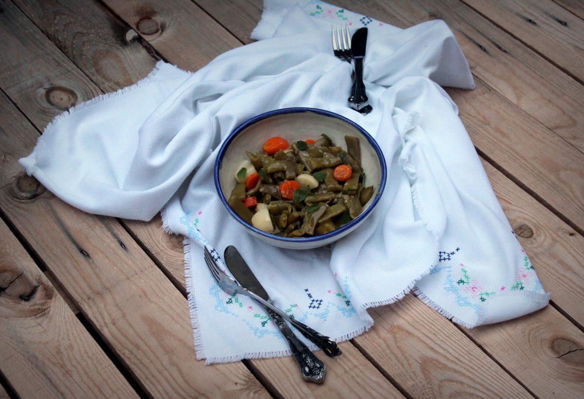 Verduras con vinagreta dulce