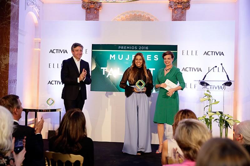 María Marte Premio Activia Mujeres con Talento 2016