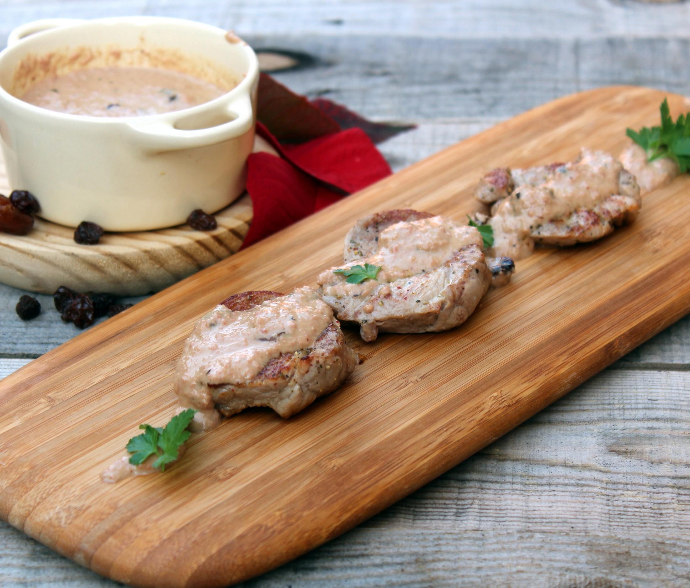 solomillo de cerdo con salsa de foie y px