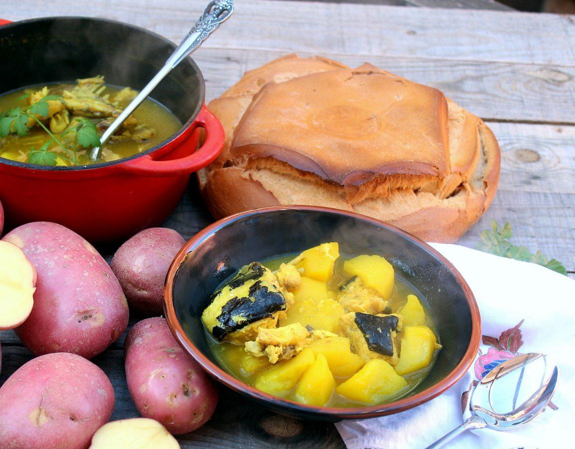 Receta Patatas con congrio