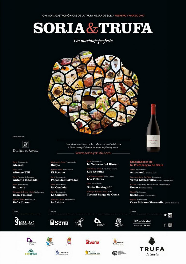 Cartel Soria y Trufa, 3ª Jornadas Gastronómicas de la Trufa de Soria