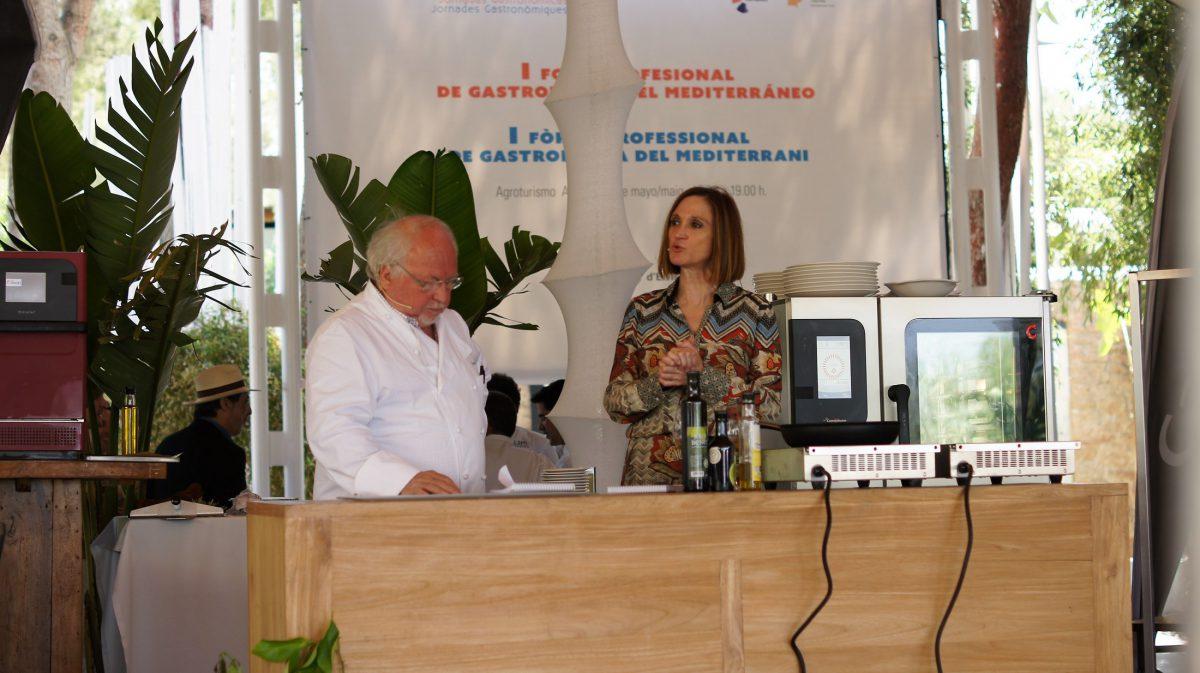 Jean Louis Neichel y Tana Collados en el I Foro Profesional de Gastronomía del Mediterráneo