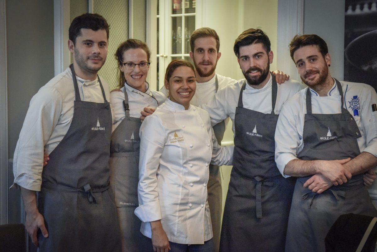 María Marte y su equipo