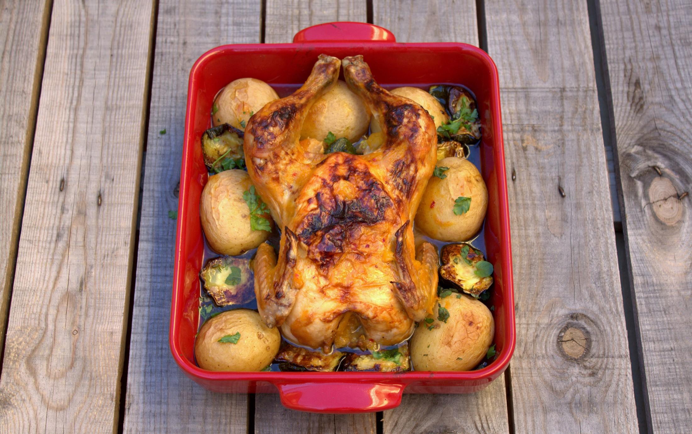 Pollo asado fácil