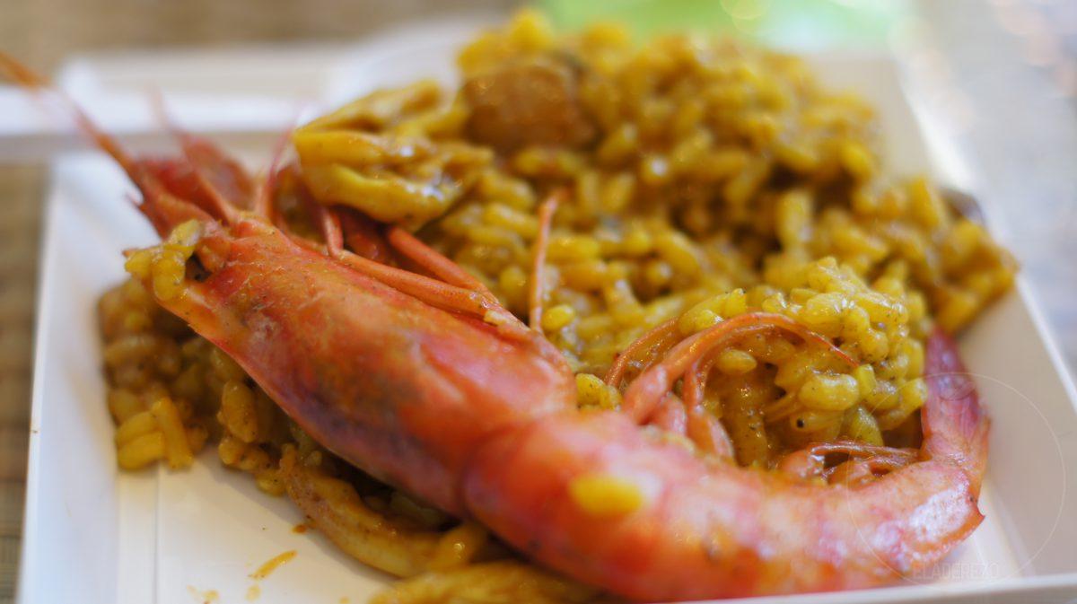 Arroz con sepia, espandenyas y gamba roja de Ibiza - Restaurante Sa Nansa