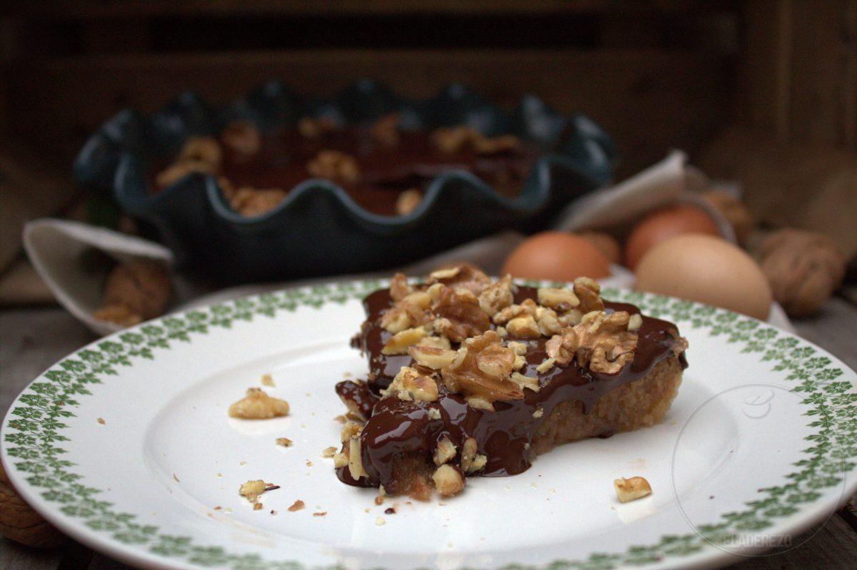 Tarta de nueces y chocolate