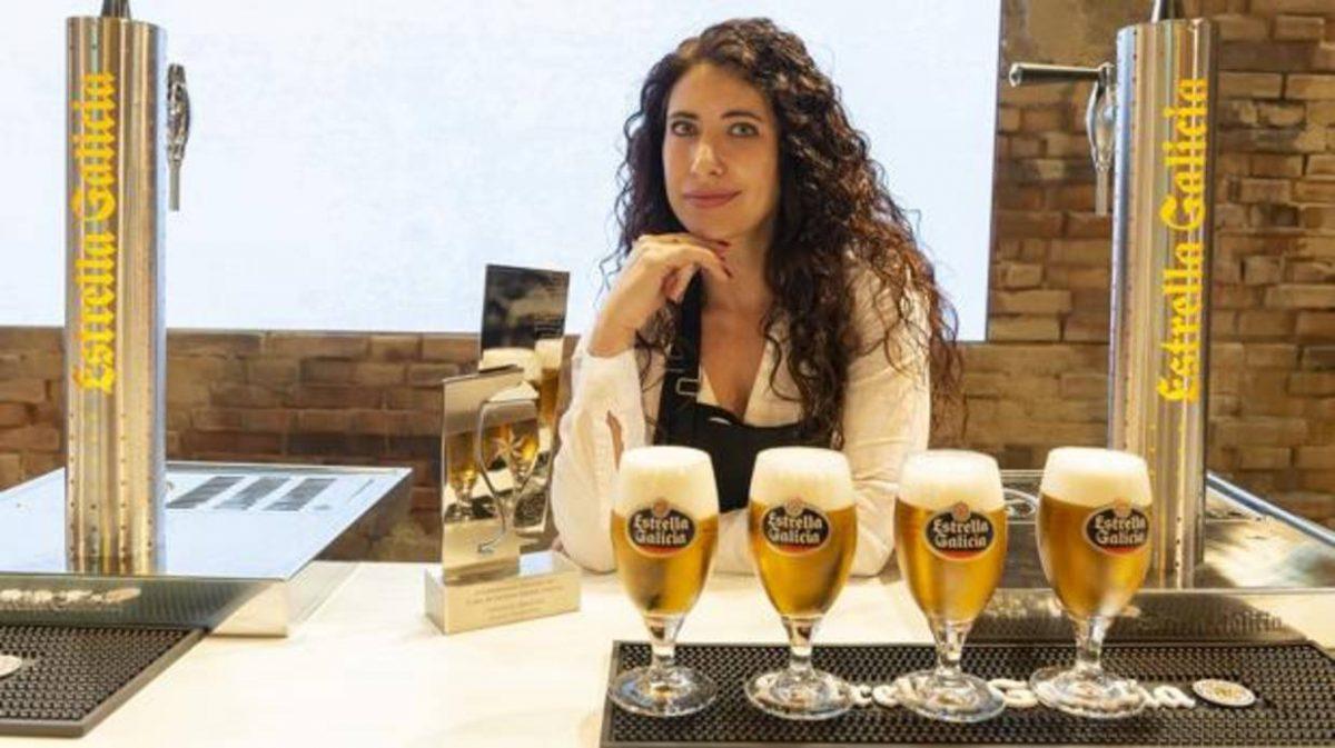 Davinia Martínez Campeona Nacional de Tiraje de Cerveza Estrella Galicia 2018