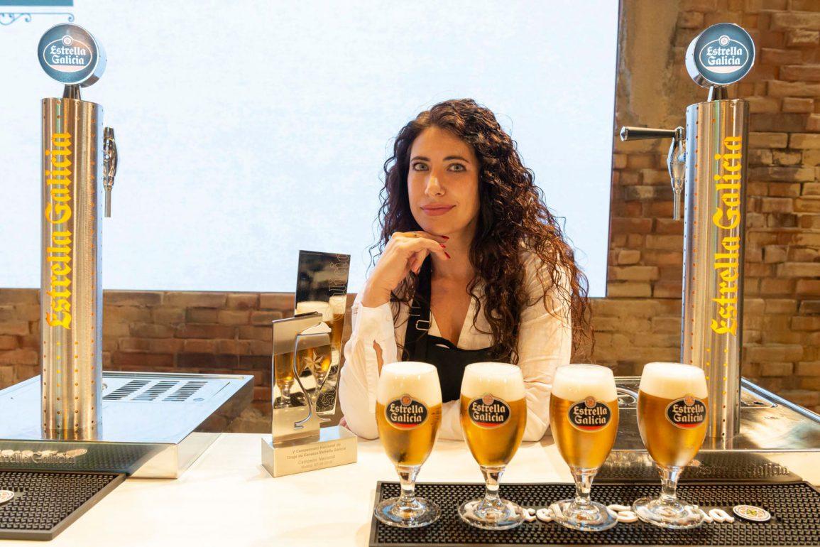 Davinia Martínez, ganadora del Campeonato Nacional de Tiraje de Cerveza 2018