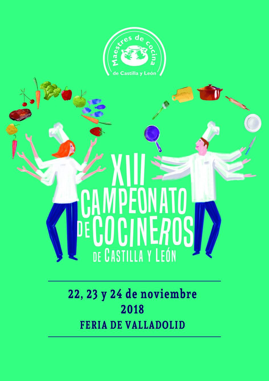 concurso cocinero castilla y leon 2018 - cartel
