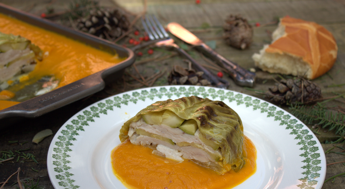 Pastel de pollo y verduras