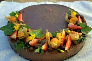 tarta cuajada de chocolate negro